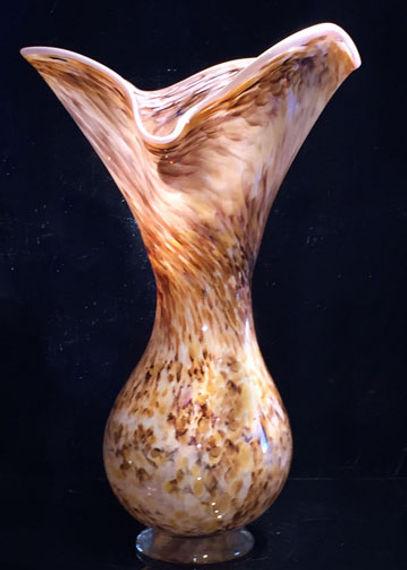 Glass Art Vase, Hand Blown Glass Art Vase