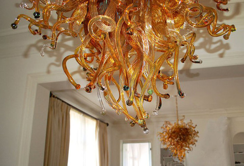 Blown Glass Chandelier | Glass Chandelier | Blown Glass Pendant Lights | Art Glass Chandeliers