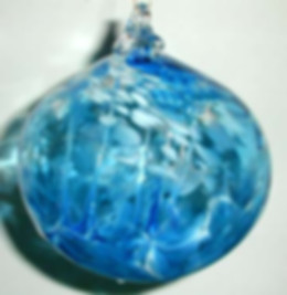 Hand Blown Glass Witch Ball, Glass Witch Ball