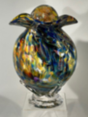 Glass Urn | Blown Glass Urn | Hand Blown Glass Urn