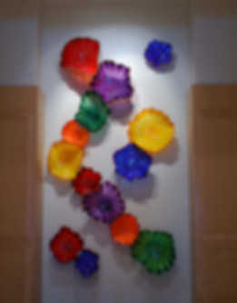 Glass Wall Sculpture, Glass Wall Flowers, Glass Flower Wall Art