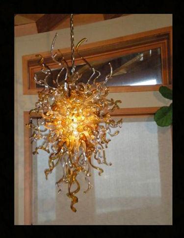 Glass Lighting, Blown Glass Chandelier