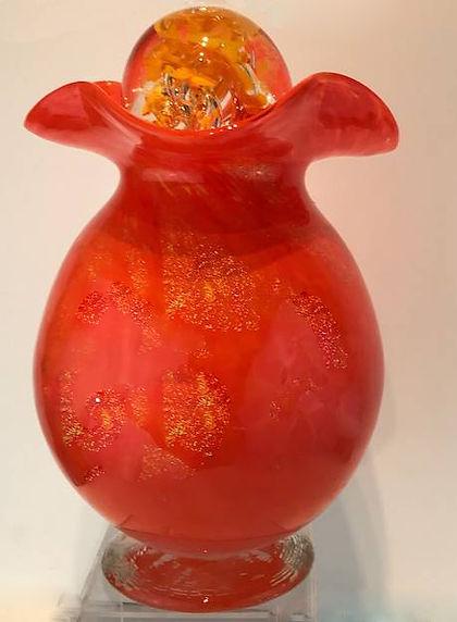 Glass Urn, Blown Glass Urn