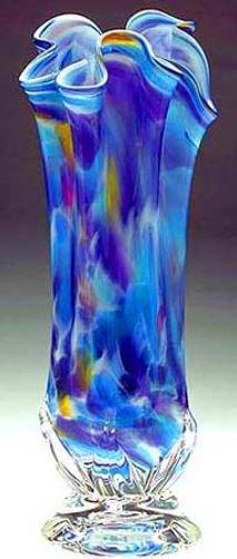 Hand Blown Vase, Hand Blown Glass Vase
