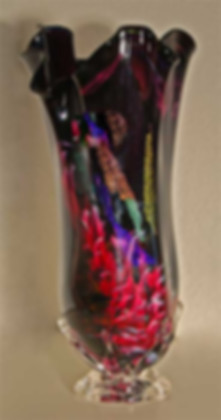 Glass Art Vase, Blown Glass Art Vase