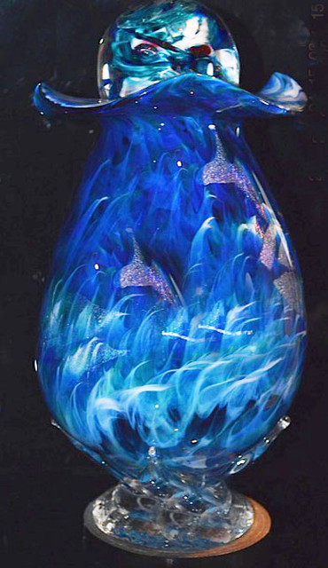 Blown Glass Urn | Hand Blown Glass Cremation Urn | Glass Blown Urn