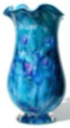 Blown Glass Bouquet Vase, Hand Blown Glass Bouquet Vase