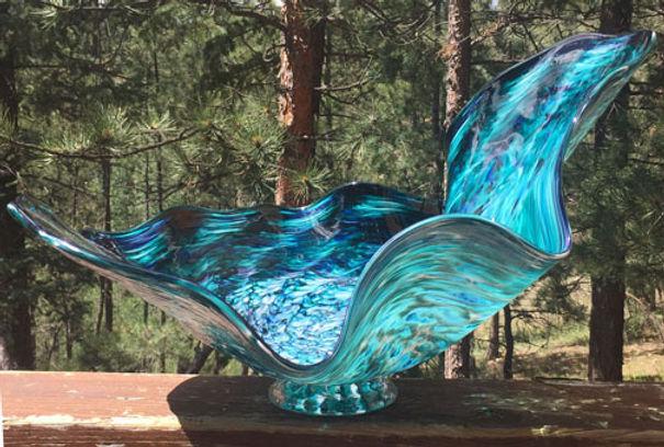 Glass Wall Sculpture, Glass Flower Wall Art
