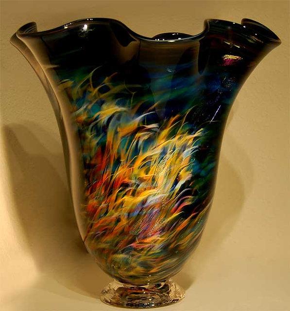 Blown Glass Art  Vase, Art Glass Vases