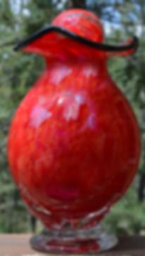 Blown Glass Urn, Glass Cremation Urn