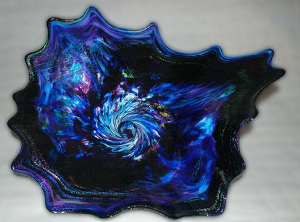 Contemporary Glass Wall Art, Blown Glass Platters, Glass Art Wall Flowers