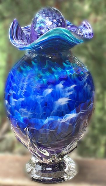 Blown Glass Urn, Glass Urns