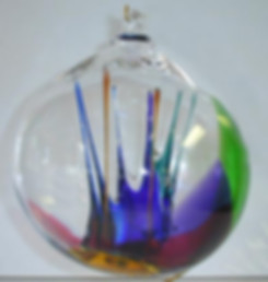Blown glass Witch Ball