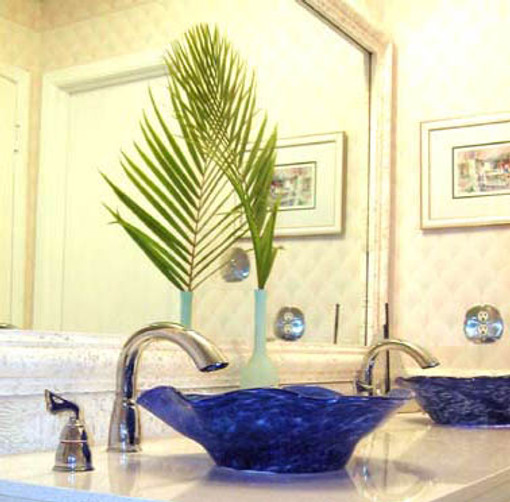 Blown Glass Bathroom Sink, Glass Sinks, Glass Basin Sinks