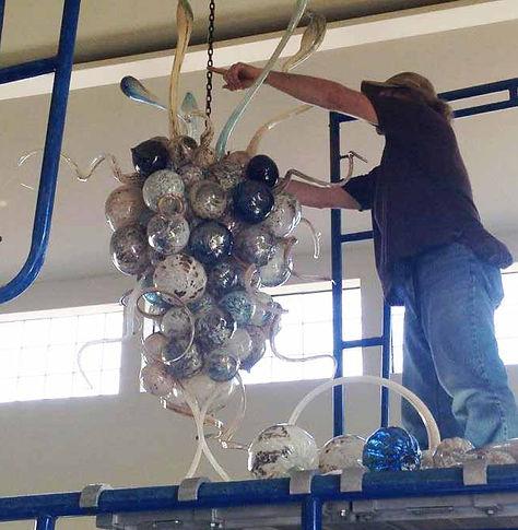 Hand Blown Chandelier | Glass Blown Chandelier | Blown Glass Chandelier | Art Glass Chandelier