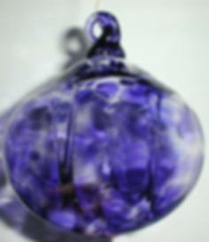 Blown Glass Witch Ball, Hand Blown Glass Witch Ball