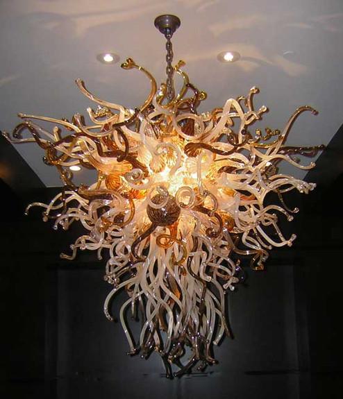 Art Glass Lighting, Blown Glass Chandelier