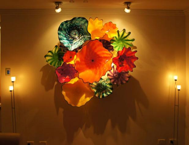 Glass Wall Sculpture, Glass Wall Flowers, Glass Flower Wall Art