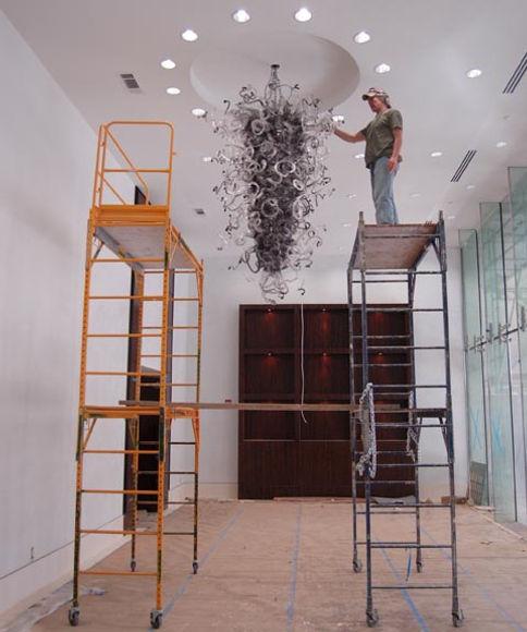 Blown Glass Chandelier | Glass Chandelier | Blown Glass Pendant Lights | Art Glass Chandeliers