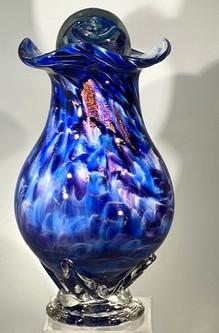 Blown Glass Urn | Glass Urn | Hand Blown Glass Urn