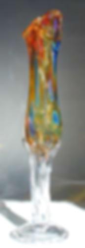 Blown Glass Bud Vase, Hand Blown Bud Glass Vase