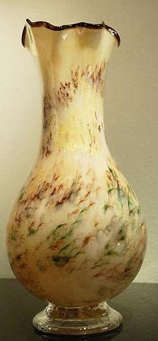 Glass Art Vase, Art Glass Vase