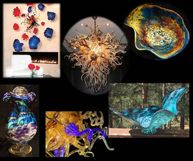 Blown Glass Wall Sculpture | Blown Glass Wall Art | Glass Blown Wall Sculpture