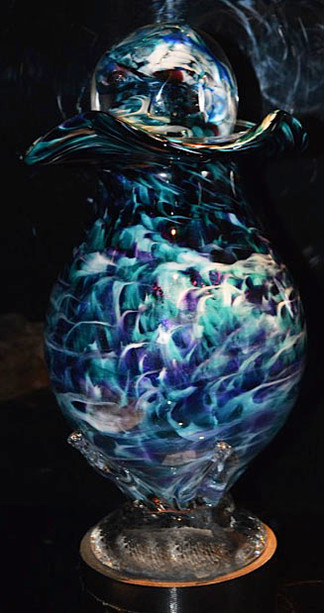 Glass Urn | Glass Cremation Urn | Hand Blown Glass Urn