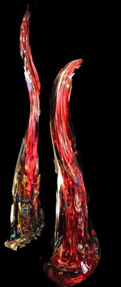 Blown Glass Art Sculptures