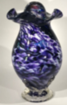 Blown Glass Urn | Glass Urn | Hand Blown Glass Urn | Glass Cremation Urn