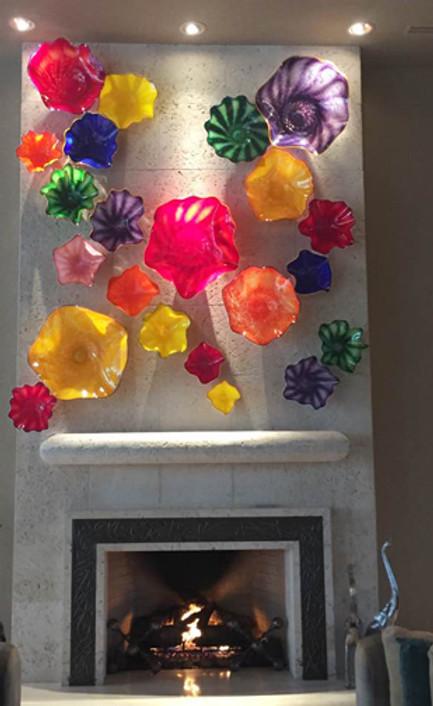 Blown Glass Wall Art Installation