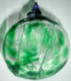 Glass Witch Ball, Hand Blown Glass Witch Ball