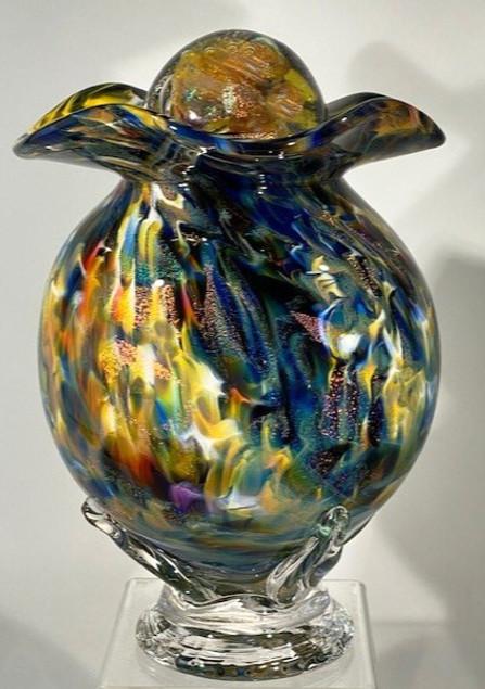 Glass Urn | Glass Cremation Urn | Blown Glass Urn