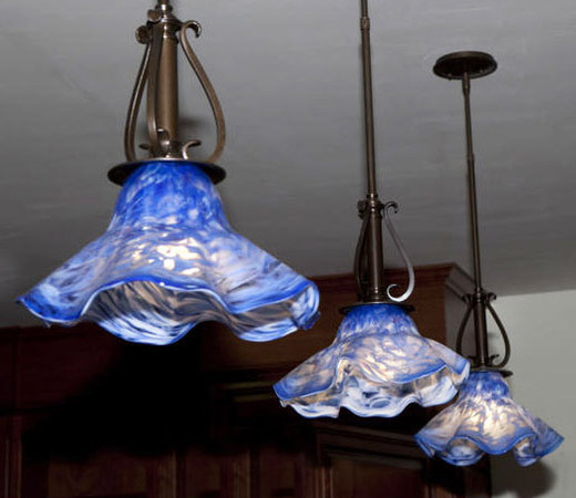 Glass Art Pendant Lights, Blown Glass Pendant Lights