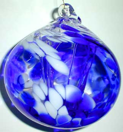 Blown Glass Witch Ball, Glass Witch Ball