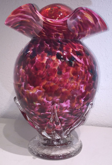 Blown Glass Cremation Urn, Glass Urn