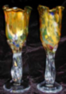 Blown Glass Wedding Goblets