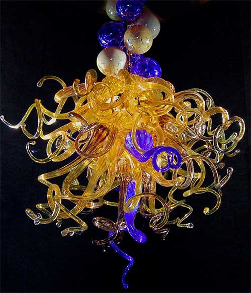 Glass Lighting, Blown Glass Chandelier
