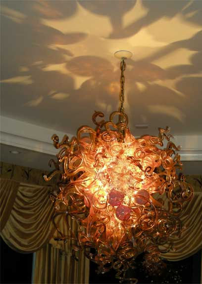 Blown Glass Chandeliers, Art Glass Lighting