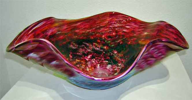 Hand Blown Glass Vessel Sinks, Art Glass Vessel Sink, Glass Basin