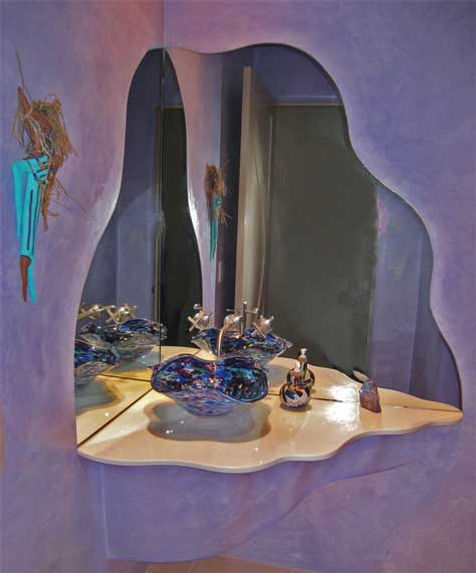 Glass Basin Sinks, Glass Sinks for Bathrooms, Blown Glass Bathroom Sink