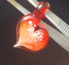 Memorial Glass Pendants   Glass Cremation Jewelry   Glass Heart with Ashes