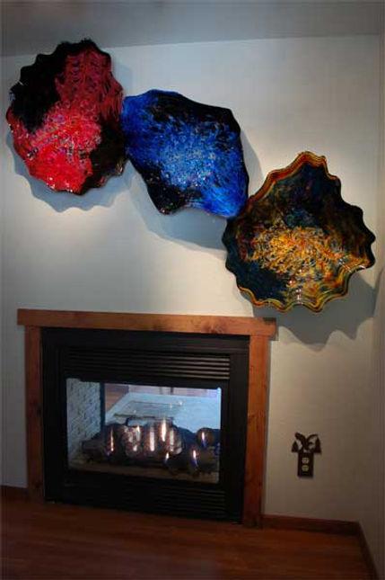 Sculptural Glass Wall Art