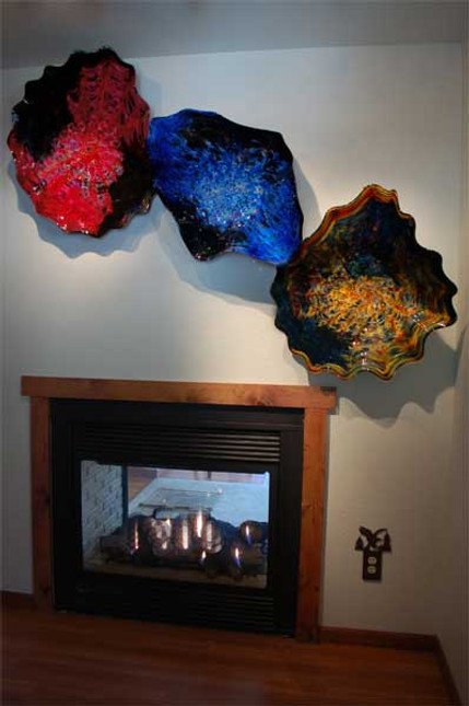 Sculptural Glass Wall Art