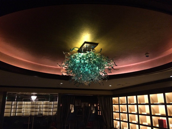 Blown Glass Chandelier, Art Glass Lighting