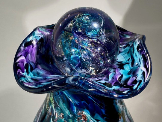 Glass Urn | Blown Glass Urn | Glass Cremation Urn