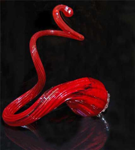 Blown Glass Art Sculpture