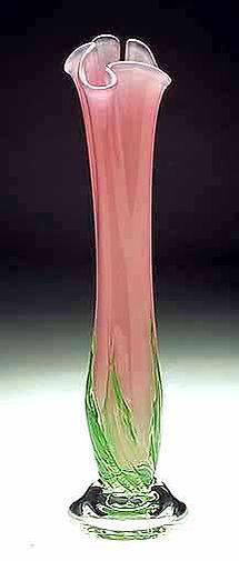 Blown Glass Art Vase, Art Glass Vase