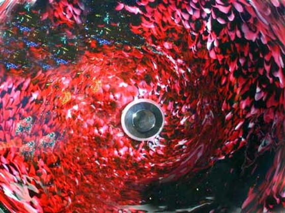 Art Glass Vessel Sink, Blown Glass Vessel Sink, Blown Glass Bathroom Sink