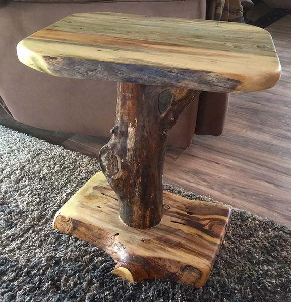 Live Edge Furniture, Live Edge End Tables